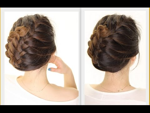 ★-5-minute-french-braid-updo-|-easy-summer-hairstyles