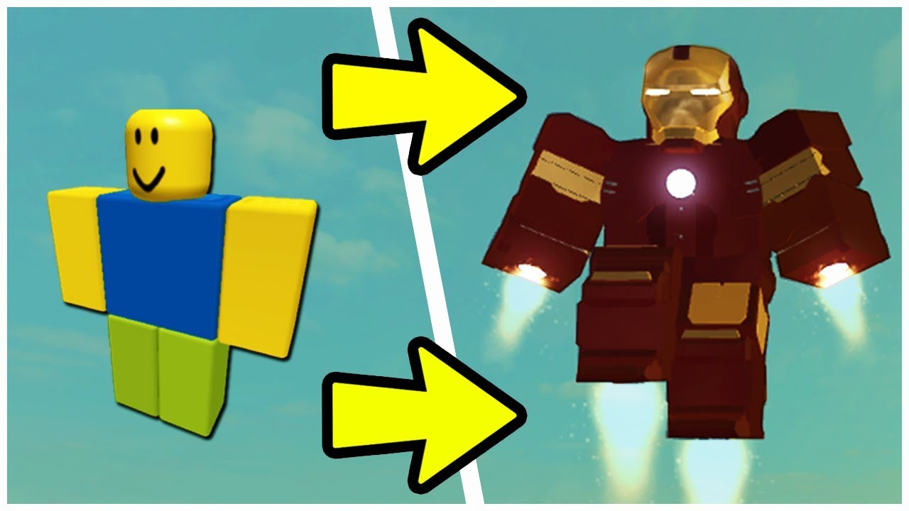 How To Become Iron Man In Roblox Youtube