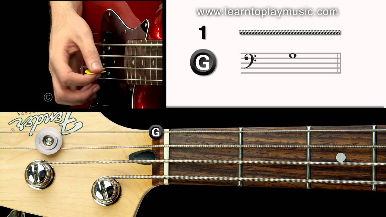 04 bass tuning 1st string g note youtube. Black Bedroom Furniture Sets. Home Design Ideas