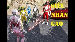 GTA 5 - 5 anh em siêu nhân Gao cầm kiếm điện quang đi diệt kẻ ác