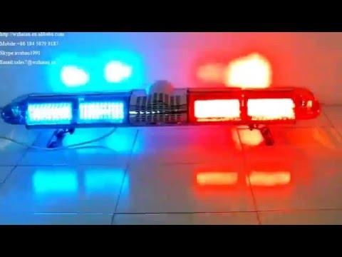 Red blue led police lightbarhazard emergency warning lightbar sith red blue led police lightbarhazard emergency warning lightbar sith speaker and siren 110l1 aloadofball Image collections
