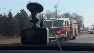 Fire Truck And OPP responding to accident READ DESCRIPTION!