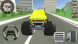 game balap mobil raksasa - truk Monster besar