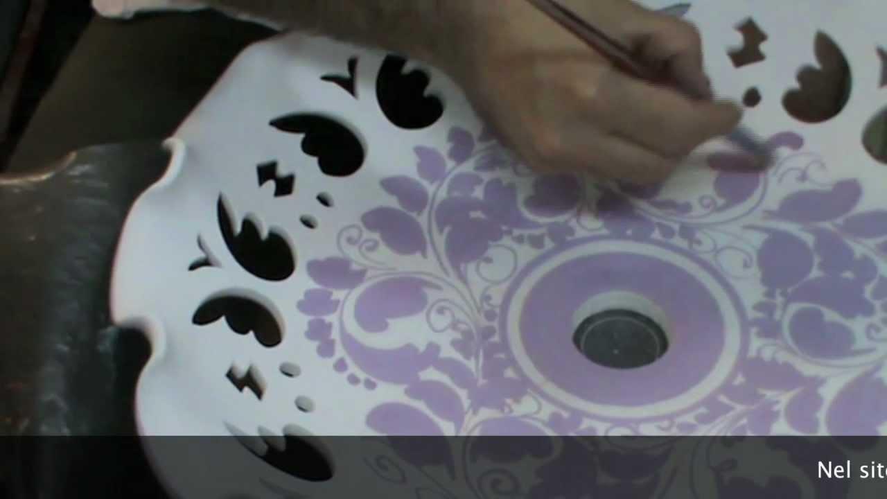 Ceramica decorazione di un lampadario youtube for Decorazione ceramica
