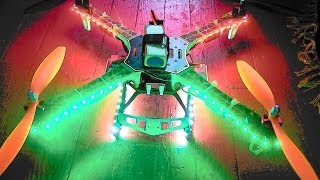 aerosky quadcopter custom LED lights night flight