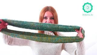 Okrągły szalik - jak wiązać i jak nosić okrągły szal | DOROTA.iN