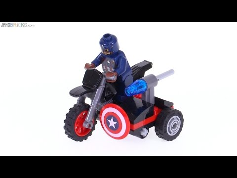 Lego Marvel Super Heroes Polybag Set # 30447 Captain America's Motorcycle