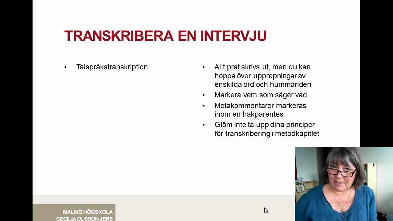 transkribering av intervju