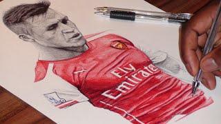 Alexis Sanchez Drawing - Arsenal FC - DeMoose Art