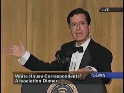 Stephen Colbert Roasts Bush at 2006 White House Correspondents Dinner