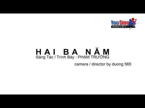 Hai Ba Năm -Karaoke -Phạm Trưởng (Beat chuẩn )