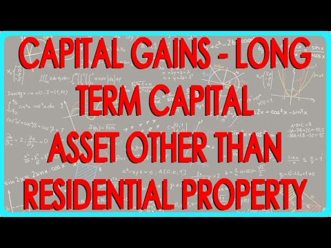Capital gains -  Long Term capital Asset other than Residential Property -- Section 54F