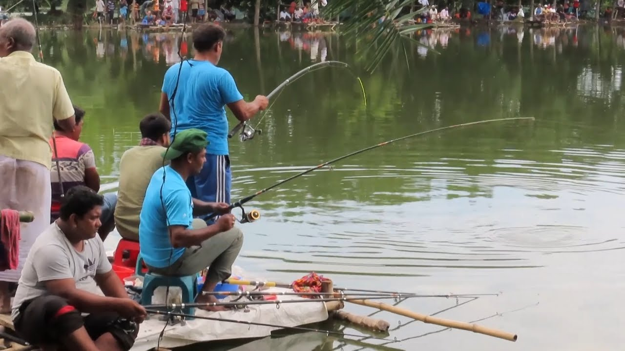 Kali Baush and Rohu fish hunting on big fishing competition