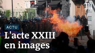 Acte XXIII des « gilets jaunes » : les images des manifestations tendues à Paris