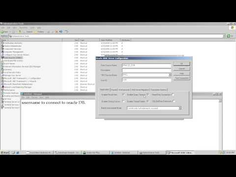 Create ODBC Data Source Connection for oracle in Windows