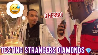 TESTING STRANGERS DIAMONDS FT. G HERBO & KING CID 😭💎 ATLANTA MALL EDITION | PUBLIC INTERVIEW