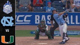 North Carolina vs. Miami ACC Baseball Championship Highlights (2019)