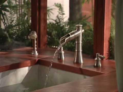 Moen ShowHouse Bamboo Bathroom Faucets - YouTube