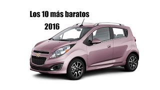 10 autos más baratos en el mercado