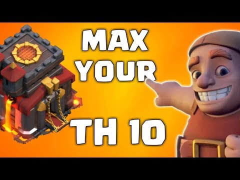 TH 10 UPGRADE GUIDE IN CLASH OF CLANS