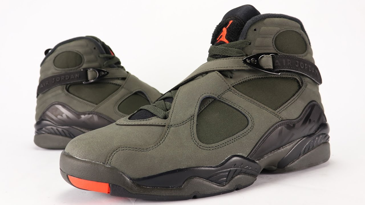 cec3677801f9 Air Jordan 8 Take Flight Sequoia Review + On Feet - YouTube