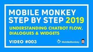 Video 3: What is Chatbot Flow, Dialogues, Folders & Widgets inside Mobile Monkey in 2019