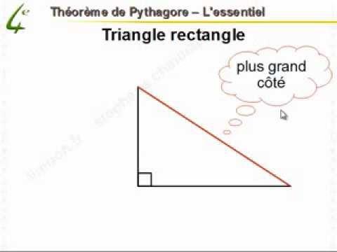 Maths 4ème - Théorème de Pythagore - Mathématiques ...