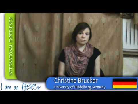 Trainee Experience: Christina [Germany] : AIESEC IIT Kharagpur