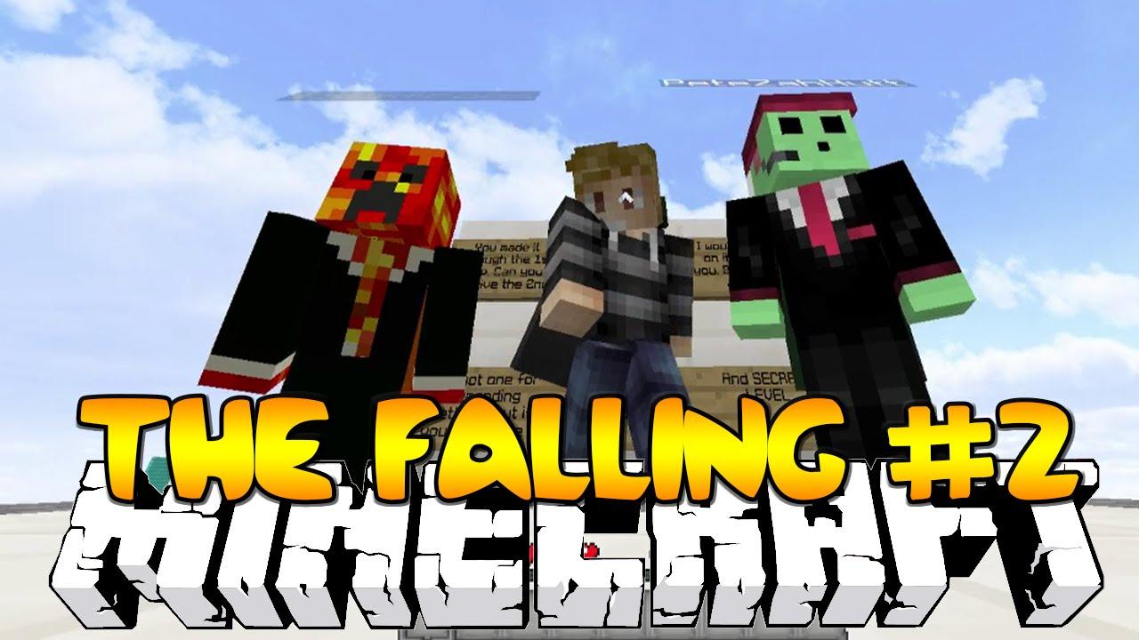 Minecraft THE FALLING #2 (DROPPER PARKOUR TROLLS) w/Kenny,Preston & Pete!
