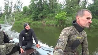 Подводная охота на реке Буй