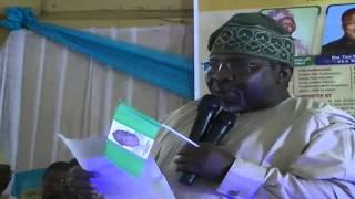 Asiwaju ETO giving his Chairman