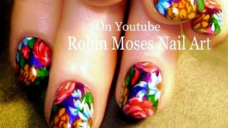 Nail Art Tutorial | Diy Flower Nails | Vintage Roses & Daisy Garden Nail Design
