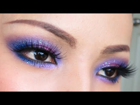 GALAXY Eyes Make-up Tutorial - YouTube