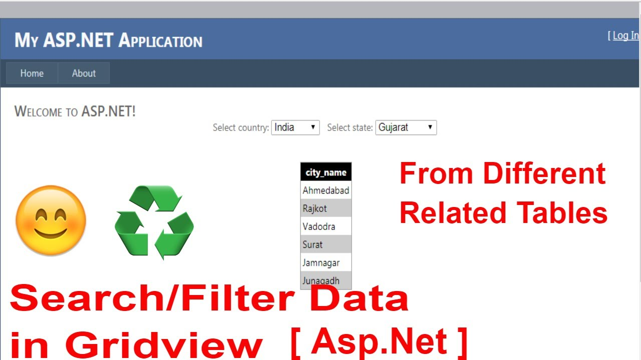 How to search/Filter data in gridview [Asp Net] - Part 3