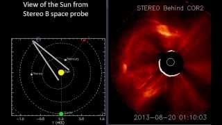 Comet plunges in the sun, strong solar flare and huge filament eruption (Aug 20, 2013) - Video Vax