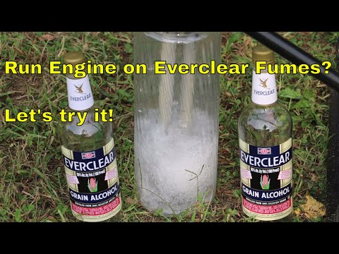 Will a Gas Engine Run on Everclear?  Let's find out!