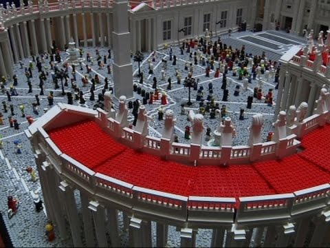Priest Creates Vatican Made Entirely of Legos