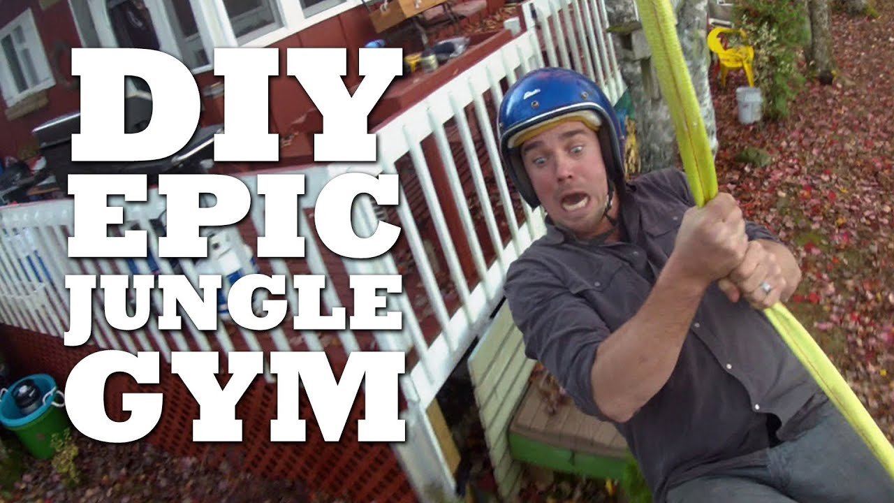 Backyard Jungle Gym Diy : How to Make an Outdoor Jungle Gym  YouTube