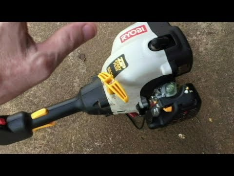 RYOBI GAS TRIMMER RUNS BAD- CARB ADJUSTMENT EASY
