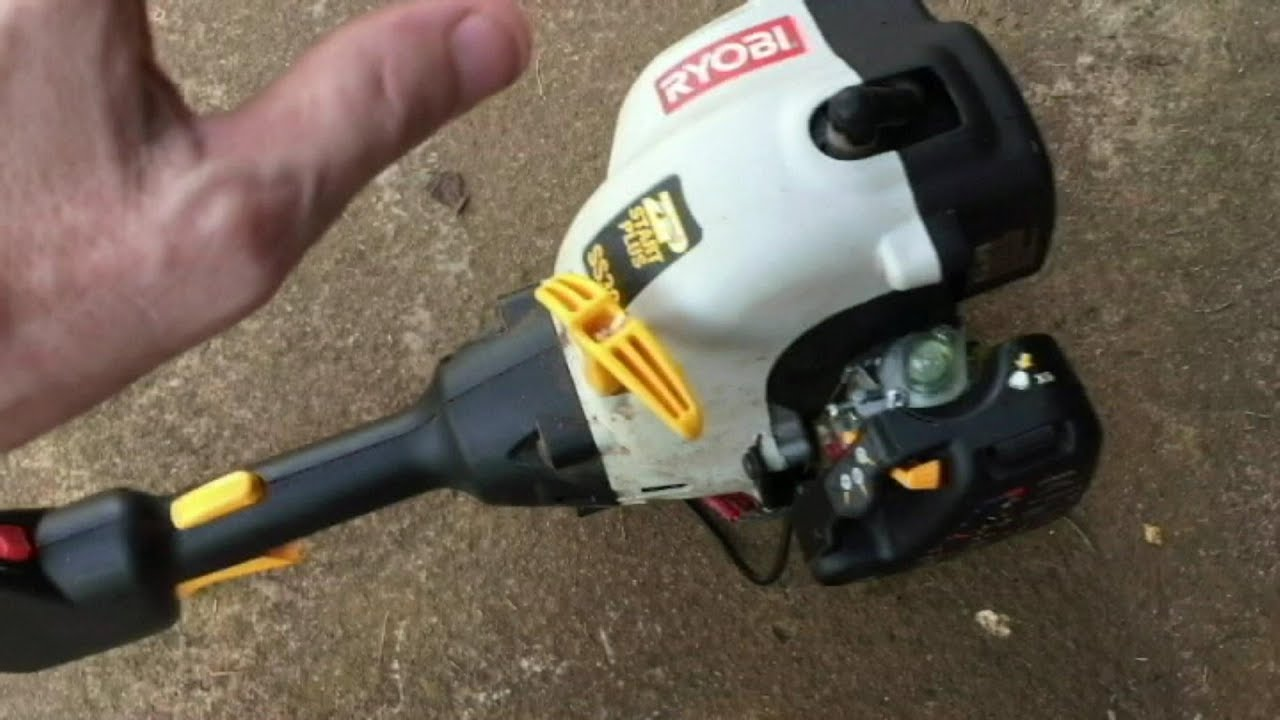 ryobi engine diagram ryobi gas trimmer runs bad carb adjustment easy youtube  ryobi gas trimmer runs bad carb