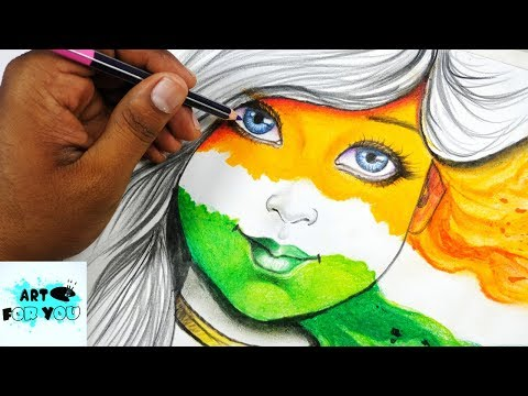 Beautiful Girl's Independence Day Drawing   Independence Day Drawing Competition  