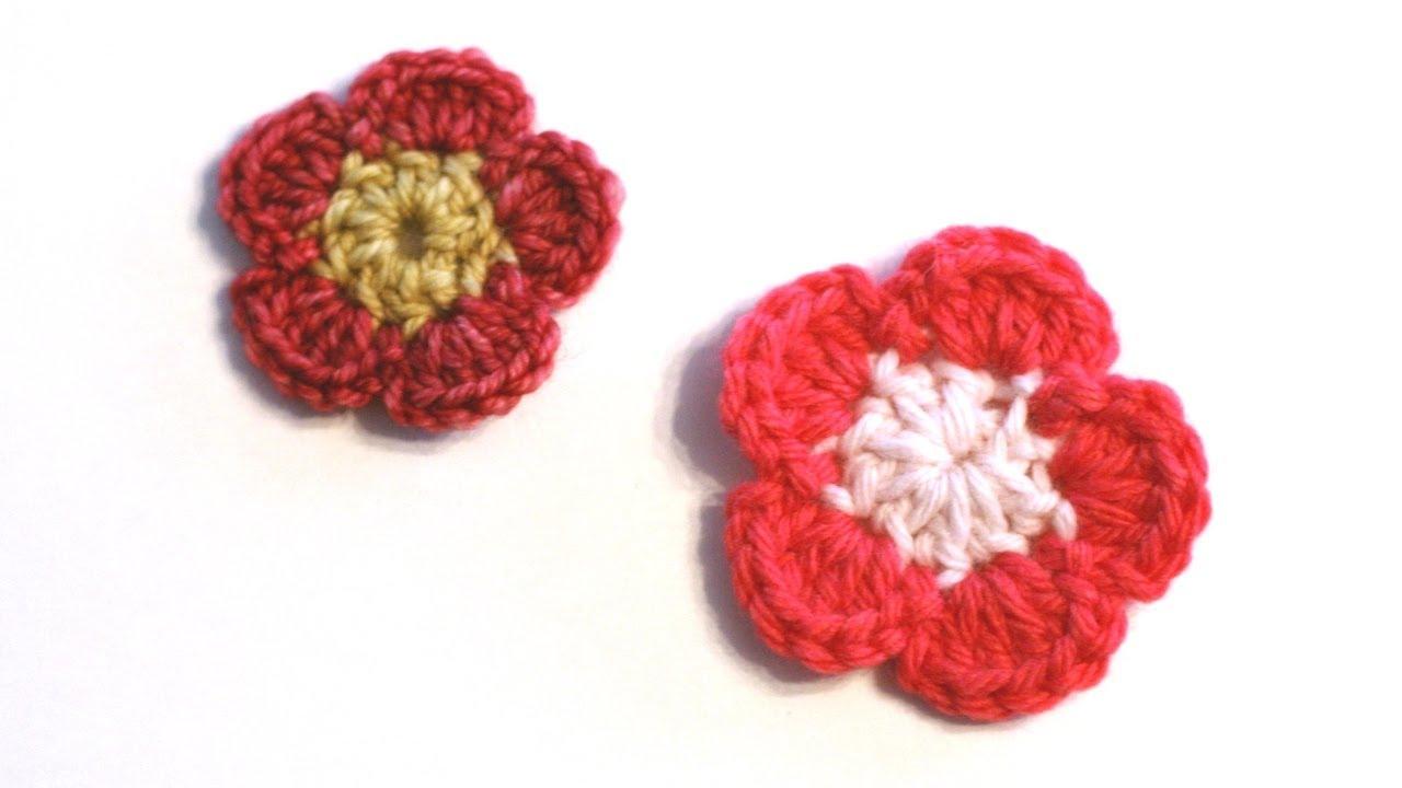 Knitting Flowers Crochet : Crochet for knitters simple crocheted flower doovi