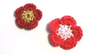 Repeat youtube video Crochet for Knitters - Simple Crocheted Flower