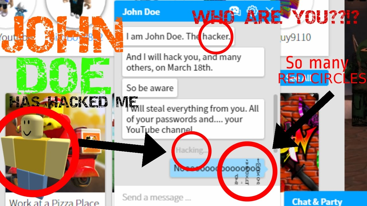Catching John Doe I Get Hacked Roblox Youtube
