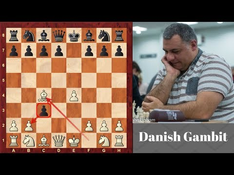 Danish Gambit Brilliancy!  Lindehn Vs  Maczuski : Paris - (1863)