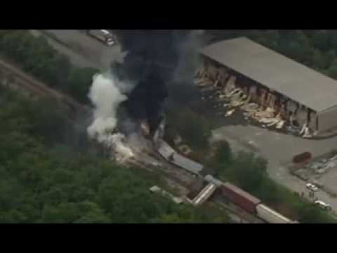 Rosedale MD Baltimore County Train Crash & Explosion w/ Radio Traffic 5/28/13