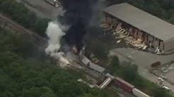 Rosedale MD Baltimore County Train Crash & Explosion w/ Radio Traffic 5/28/13