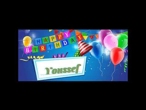 Happy Birthday Youssef عيد ميلاد سعيد يوسف Joyeux Anniversaire Youssef Buon Compleanno Youssef Viel