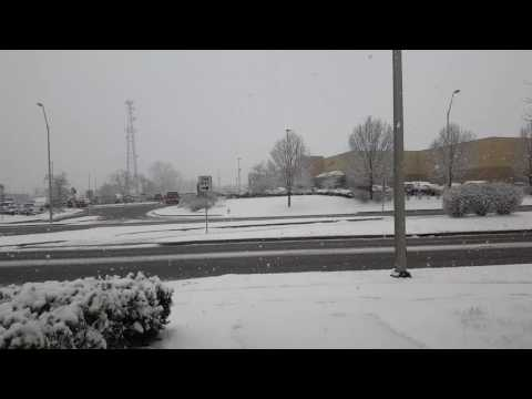 It's Snowing Time-lapse From Kettering, OH - Walmart In The Background