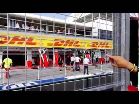 Hungarian Grand Prix 2016 - Grid after the race, Christian Horner & Susie Wolf